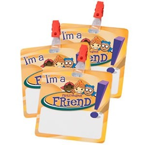 Name Badges (reusable dry-erase, with clips) pack of 5 (General Merchandise)