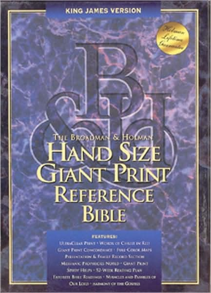 KJV Hand Size Giant Print Reference Bible, Burgundy (Bonded Leather)
