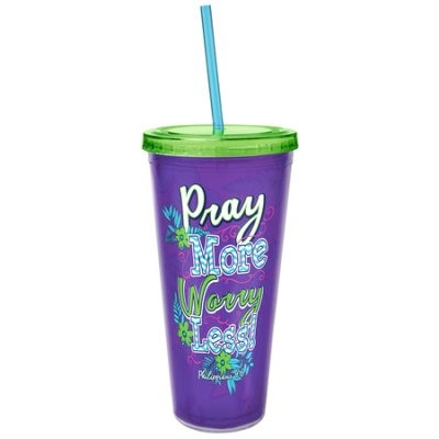 Acrylic Tumbler w/ Straw - Pray More