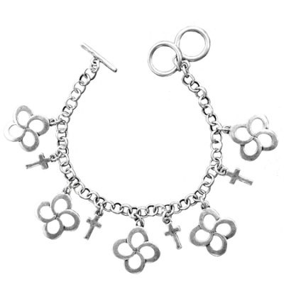 Faith Gear Women's Bracelet - Swirl Cross Silver (General Merchandise)