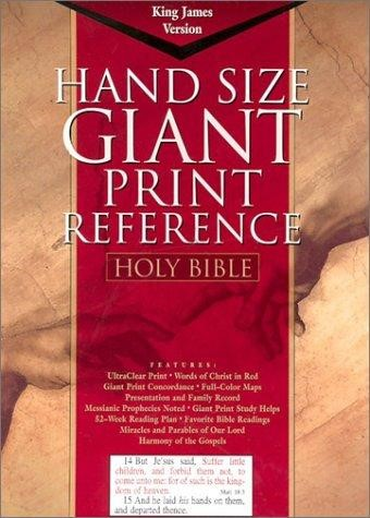 KJV Hand Size Giant Print Reference (Bonded Leather)