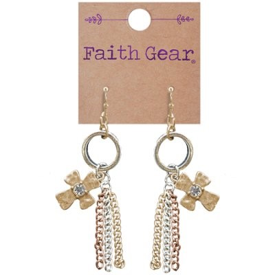 Faith Gear Women's Earrings - Tassel Crosses (General Merchandise)