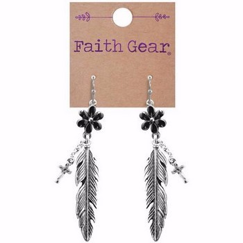 Faith Gear Women's Earrings - Flower Feather (General Merchandise)
