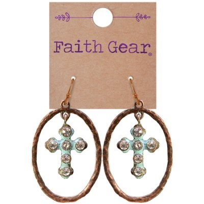 Faith Gear Women's Earrings - Oval Crosses (General Merchandise)