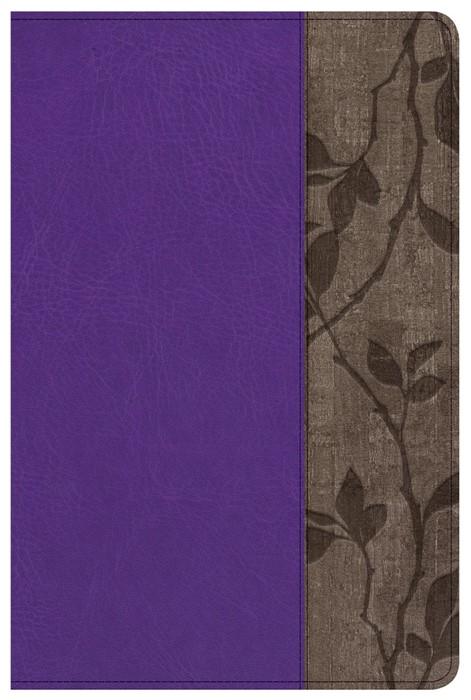 KJV Study Bible Personal Size, Purple With Brown Cork