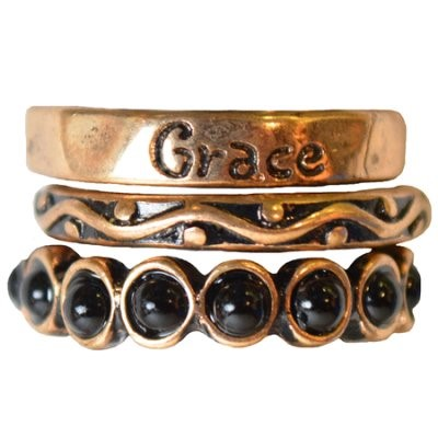 Faith Gear Ring - Grace Size 8