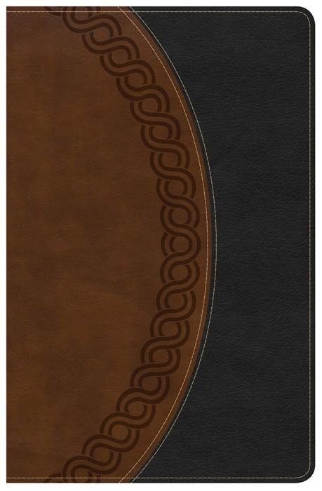 NKJV Large Print Personal Size Reference Bible, Black/Brown (Imitation Leather)