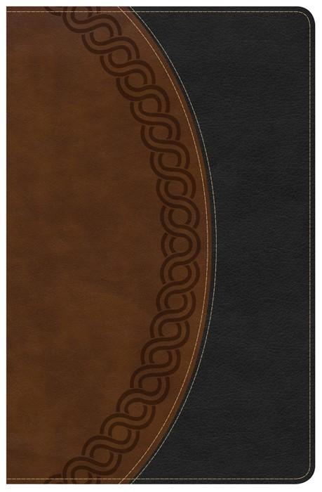 NKJV Large Print Personal Size Reference Bible, Black/Brown