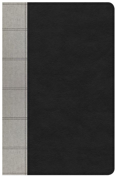 NKJV Large Print Personal Size Reference Bible, Black/Gray