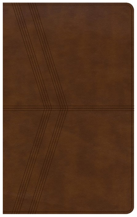 KJV Ultrathin Reference Bible, Brown Deluxe Leathertouch, In (Imitation Leather)