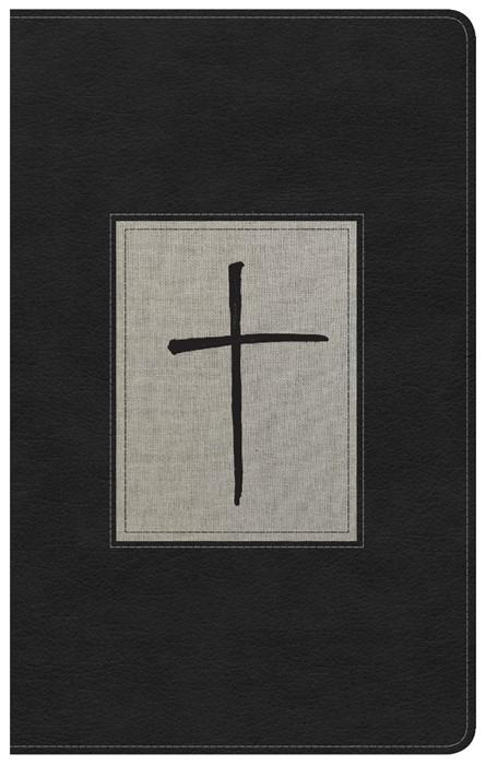 KJV Ultrathin Reference Bible, Black/Gray Deluxe Leathertouc