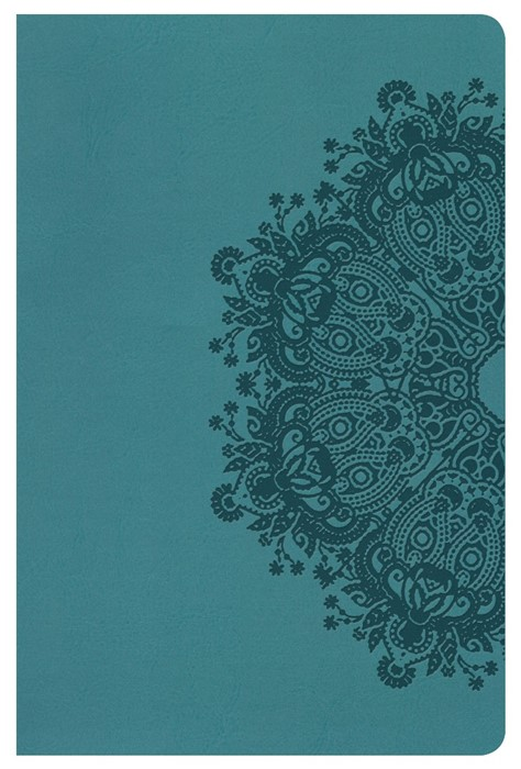 KJV Ultrathin Reference Bible, Teal Leathertouch, Indexed
