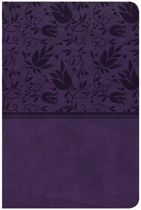 CSB Compact Ultrathin Reference Bible, Purple Leathertouch (Imitation Leather)