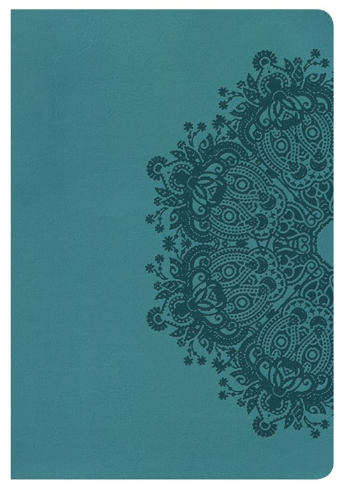 KJV Large Print Ultrathin Reference Bible, Teal, Indexed (Imitation Leather)