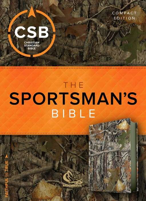 CSB Sportsman's Bible: Large Print Compact Edition, Mothwing (Imitation Leather)