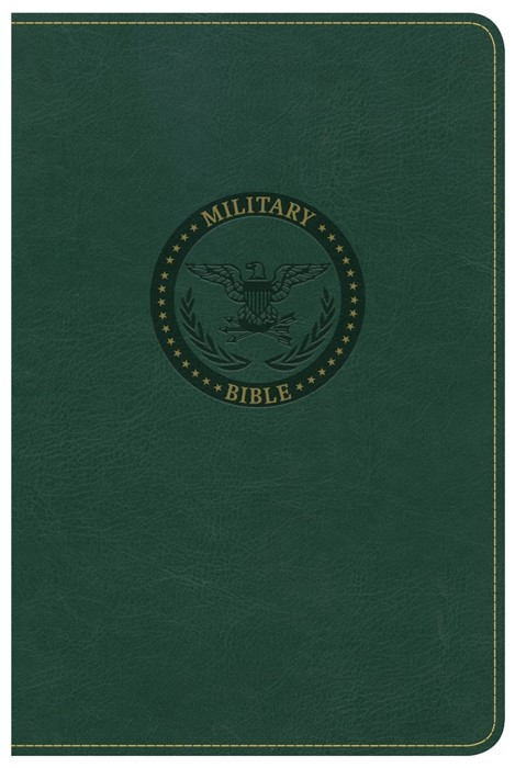 CSB Military Bible, Green Leathertouch (Imitation Leather)