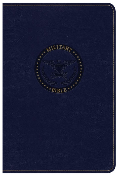 CSB Military Bible, Navy Blue Leathertouch (Imitation Leather)