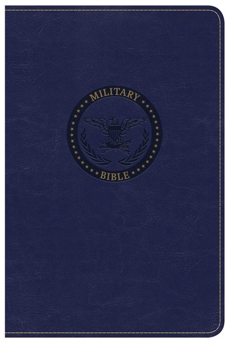 CSB Military Bible, Royal Blue Leathertouch (Imitation Leather)