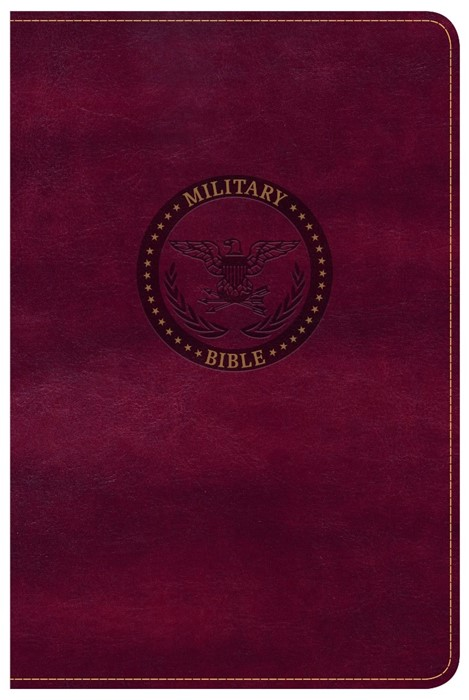 CSB Military Bible, Burgundy Leathertouch (Imitation Leather)