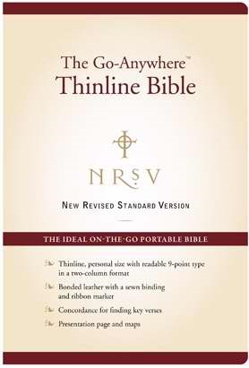 The NRSV  Go-Anywhere Thinline Bible (Hard Cover)