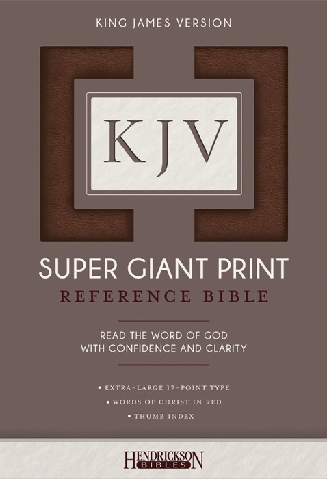 KJV Super Giant Print Reference Bible, Brown, Indexed (Flexisoft)