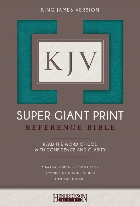 KJV: Super Giant Print Reference Bible, Turquoise, Indexed (Flexisoft)