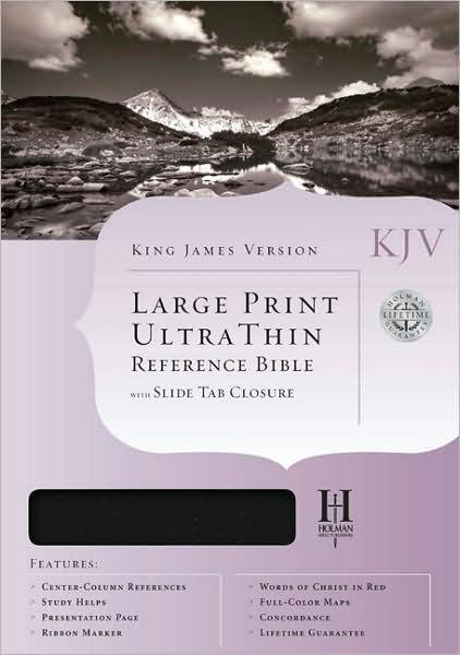 KJV Large Print Classic Ultrathin Reference Bible, Black (Bonded Leather)
