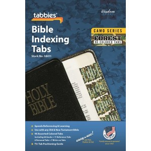 Bible Index Tabs Camo 'Forest' (Tabbies)