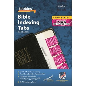 Bible Indexing Tabs Camo 'Pink' (Tabbies)
