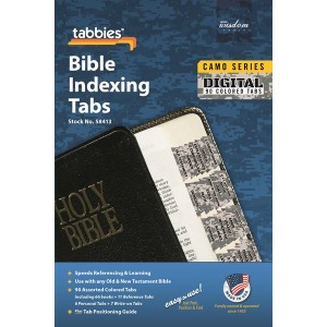Bible Indexing Tabs Camo 'Digital' (Tabbies)