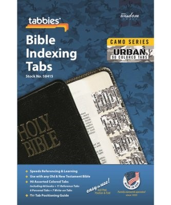 Bible Indexng Tabs Camo 'Urban' (Tabbies)