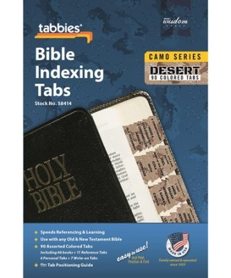 Bible Index Tabs Camo 'Desert' (Tabbies)