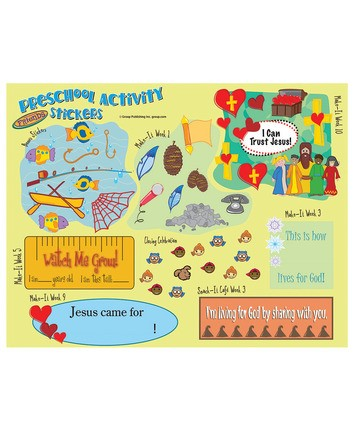 FaithWeaver Friends Preschool Activity Stickers Fall 2017 (Stickers)