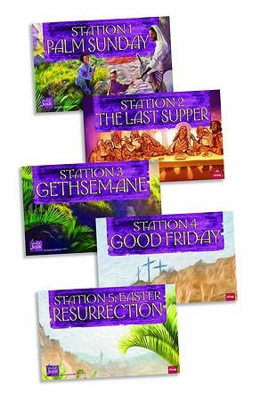 Walk With Jesus Station Posters (Pack of 5) (Poster)