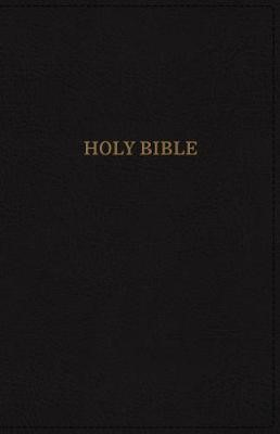 KJV Deluxe Reference Bible, Black, Large Print, Red Letter (Imitation Leather)