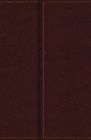 KJV Compact Reference Bible, Burgundy, Large Print (Leather-Look)