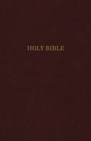 KJV Reference Bible, Burgundy, Giant Print, Red Letter Ed. (Bonded Leather)