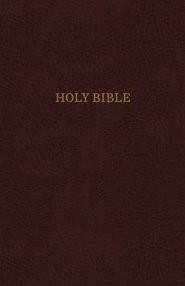 KJV Reference Bible, Burgundy, Giant Print, Red Letter Ed. (Leather-Look)