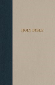KJV Reference Bible, Blue/Tan, Giant Print, Red Letter Ed. (Cloth-Bound)