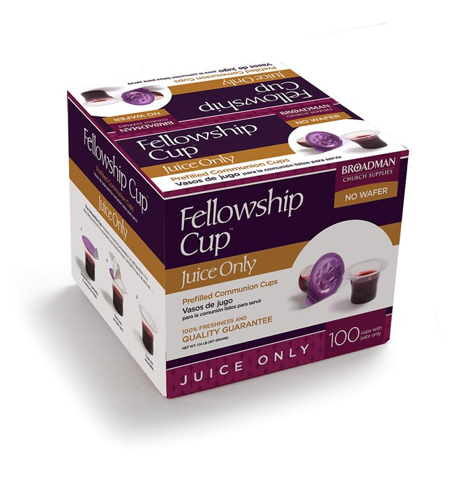 Fellowship Cup Juice Only Box- Box Of 100 (General Merchandise)