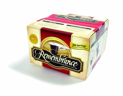 Remembrance Individual Bread And Juice Set- Box of 240 (General Merchandise)