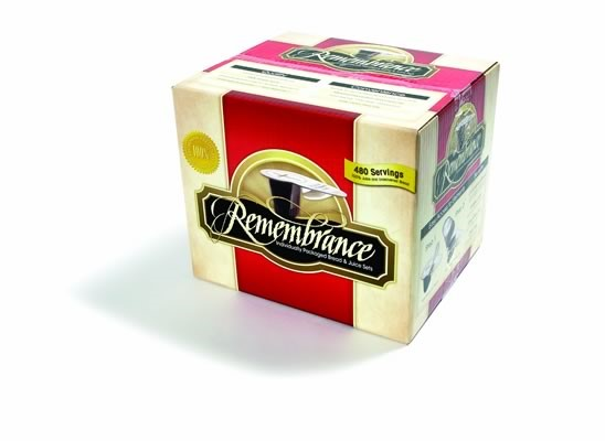 Remembrance Individual Bread And Juice Set- Box of 480 (General Merchandise)