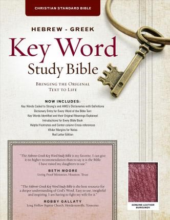 The CSB Hebrew-Greek Key Word Study Bible Burgundy (Genuine Leather)