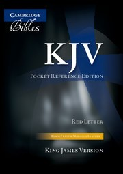 KJV Pocket Reference Bible, Black French Morocco Leather (Leather Binding)