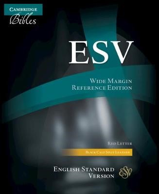 ESV Wide-Margin Reference Bible, Black Calf-Split Leather (Leather Binding)