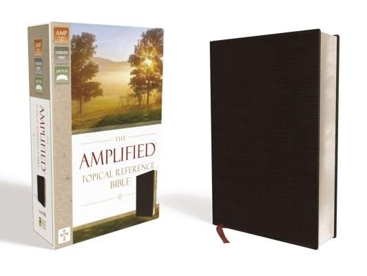Amplified Topical Reference Bible, Black, Bonded Leather (Bonded Leather)