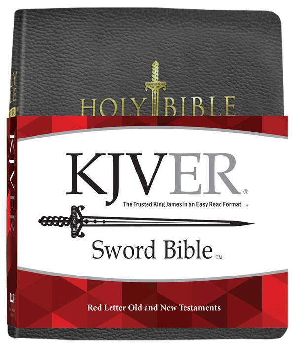 KJV Sword Study Bible Giant Print Black Genuine Leather (Leather Binding)