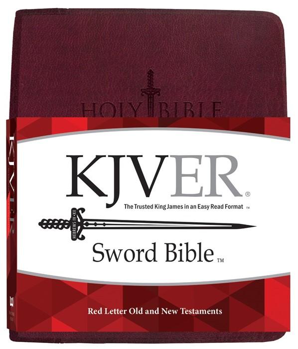KJV Sword Study Bible Giant Print Burgundy Genuine Leather (Genuine Leather)