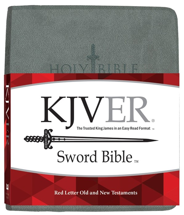 KJV Sword Study Bible Giant Print Charcoal Grey Ultrasoft (Imitation Leather)