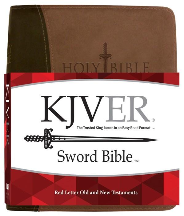KJV Sword Study Bible, Giant Print, Brown (Imitation Leather)